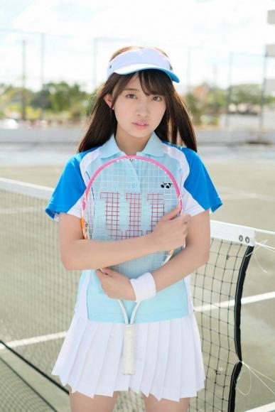 Beautiful girl in the tennis club002