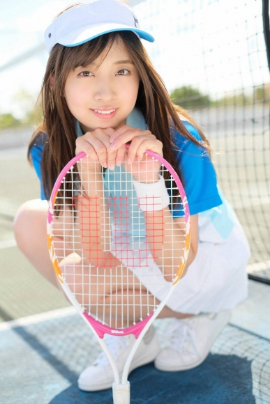 Beautiful girl in the tennis club003
