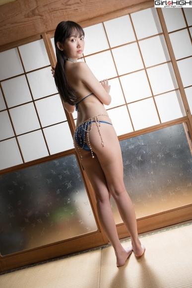 Mai Nanase Blue Metallic Micro Bikini Swimsuit010