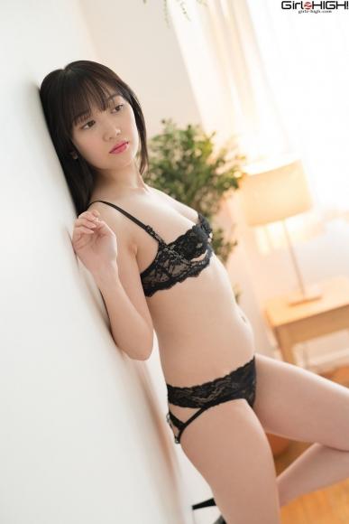Mai Nanase black underwear image002
