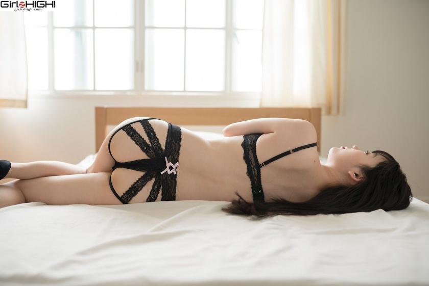 Mai Nanase black underwear image023