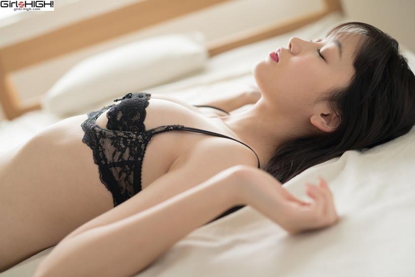 Mai Nanase black underwear image025