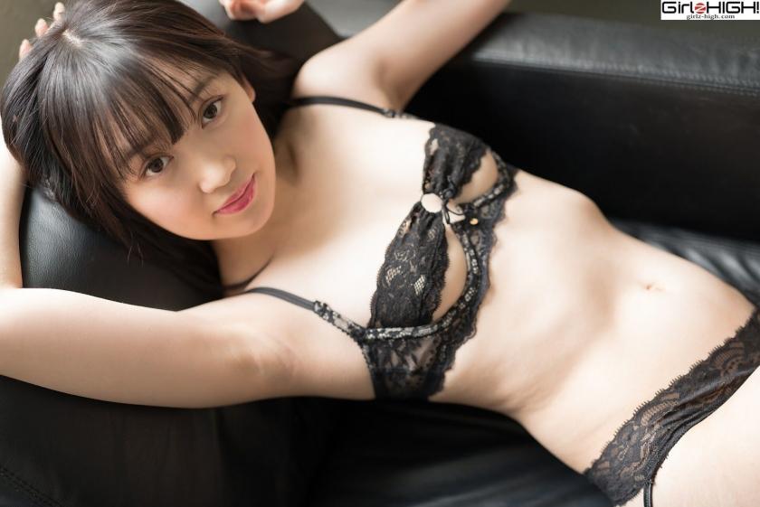Mai Nanase black underwear image038