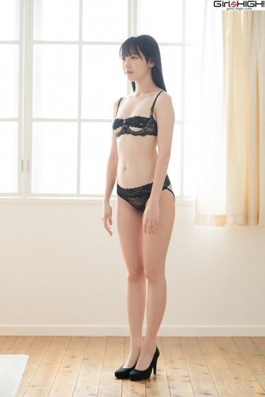 Mai Nanase black underwear image054