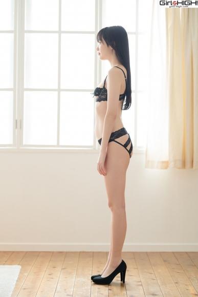 Mai Nanase black underwear image055