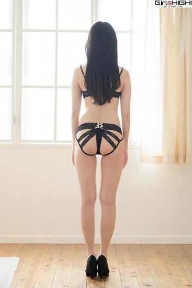Mai Nanase black underwear image057