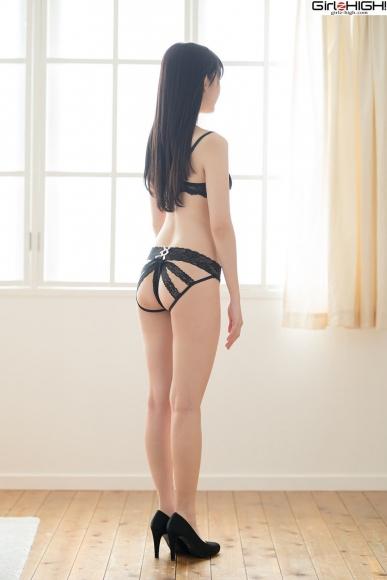Mai Nanase black underwear image058