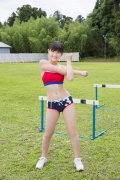 Beautiful girl in track and field club rew002