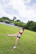 Beautiful girl in track and field club rew028
