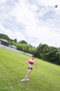 Beautiful girl in track and field club rew030