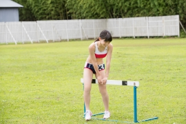 Beautiful girl in track and field club rew055