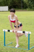Beautiful girl in track and field club rew057