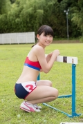 Beautiful girl in track and field club rew061