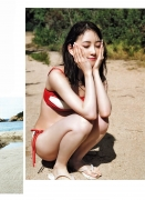 Miona Hori Gravure Swimsuit Image A bold cut 2020 that she showed me at the age of 23 in southern France021