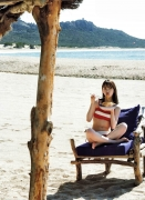 Miona Hori Gravure Swimsuit Image A bold cut 2020 that she showed me at the age of 23 in southern France025