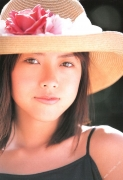15 years old 148 cm tall and what an F cup Hitomi Ito gravure swimsuit image020