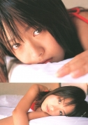 15 years old 148 cm tall and what an F cup Hitomi Ito gravure swimsuit image028