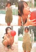 15 years old 148 cm tall and what an F cup Hitomi Ito gravure swimsuit image046
