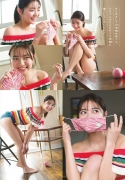 Asuka Kawazu gravure swimsuit image with a friendly smile and splendid style colors this summer004