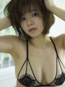 Tsukasa Wachi black lace lingerie gravure underwear image 005