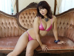 Natsumi Hirajima Pink Metallic Bikini007