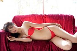 Slender beauty body Asuka Hanamura red tube top bikini006
