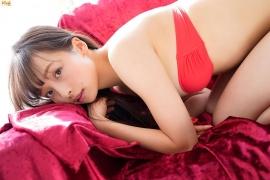 Slender beauty body Asuka Hanamura red tube top bikini008