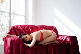 Slender beauty body Asuka Hanamura red tube top bikini010