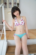 Healthy body that can play the sweet relationship of white skin x pink Risa Sawamura Swimsuit gravure016