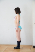 Healthy body that can play the sweet relationship of white skin x pink Risa Sawamura Swimsuit gravure023