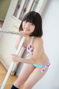 Healthy body that can play the sweet relationship of white skin x pink Risa Sawamura Swimsuit gravure035