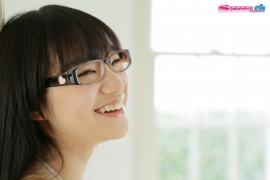 Maya Saotome Glasses Girl White String Bikini008
