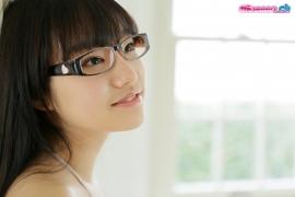 Maya Saotome Glasses Girl White String Bikini009