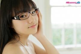 Maya Saotome Glasses Girl White String Bikini011