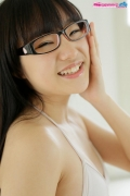 Maya Saotome Glasses Girl White String Bikini012