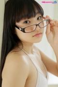 Maya Saotome Glasses Girl White String Bikini013