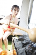 Jun Amaki in a swimsuit and sauna 2008