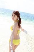 Ayumi Ishida 17 years old Morning Musume 14 Swimsuit with emerald green sea in the background001