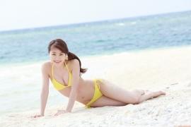 Ayumi Ishida 17 years old Morning Musume 14 Swimsuit with emerald green sea in the background006