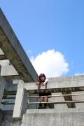 Ayumi Ishida 17 years old Morning Musume 14 Swimsuit with emerald green sea in the background008