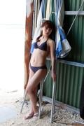 Ayumi Ishida 17 years old Morning Musume 14 Swimsuit with emerald green sea in the background015