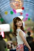 Ayumi Ishida 17 years old Morning Musume 14 Swimsuit with emerald green sea in the background021