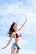 Ayumi Ishida 17 years old Morning Musume 14 Swimsuit with emerald green sea in the background023