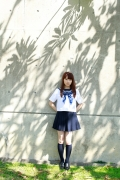 Ayumi Ishida 17 years old Morning Musume 14 Swimsuit with emerald green sea in the background022