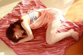 Ayumi Ishida 17 years old Morning Musume 14 Swimsuit with emerald green sea in the background025