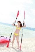 Ayumi Ishida 17 years old Morning Musume 14 Swimsuit with emerald green sea in the background028