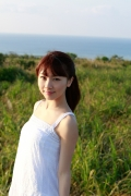 Ayumi Ishida 17 years old Morning Musume 14 Swimsuit with emerald green sea in the background031