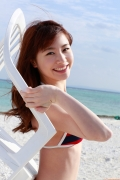 Ayumi Ishida 17 years old Morning Musume 14 Swimsuit with emerald green sea in the background033