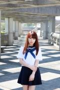 Ayumi Ishida 17 years old Morning Musume 14 Swimsuit with emerald green sea in the background036