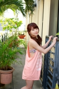 Ayumi Ishida 17 years old Morning Musume 14 Swimsuit with emerald green sea in the background029